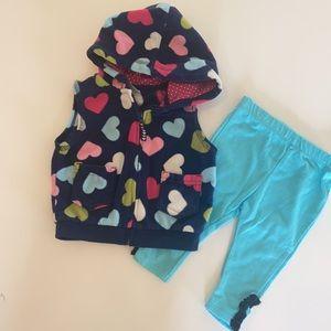 Girls vest and leggings 6-9M